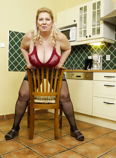 Broad in the beam age-old pretty good sextoy titplay with an increment of breasts ribbons