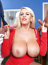 Shannon Blue's anal triple